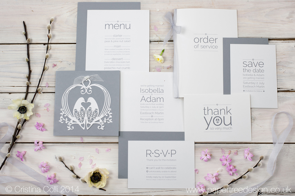 Lovely Doves Wedding Stationery Suite