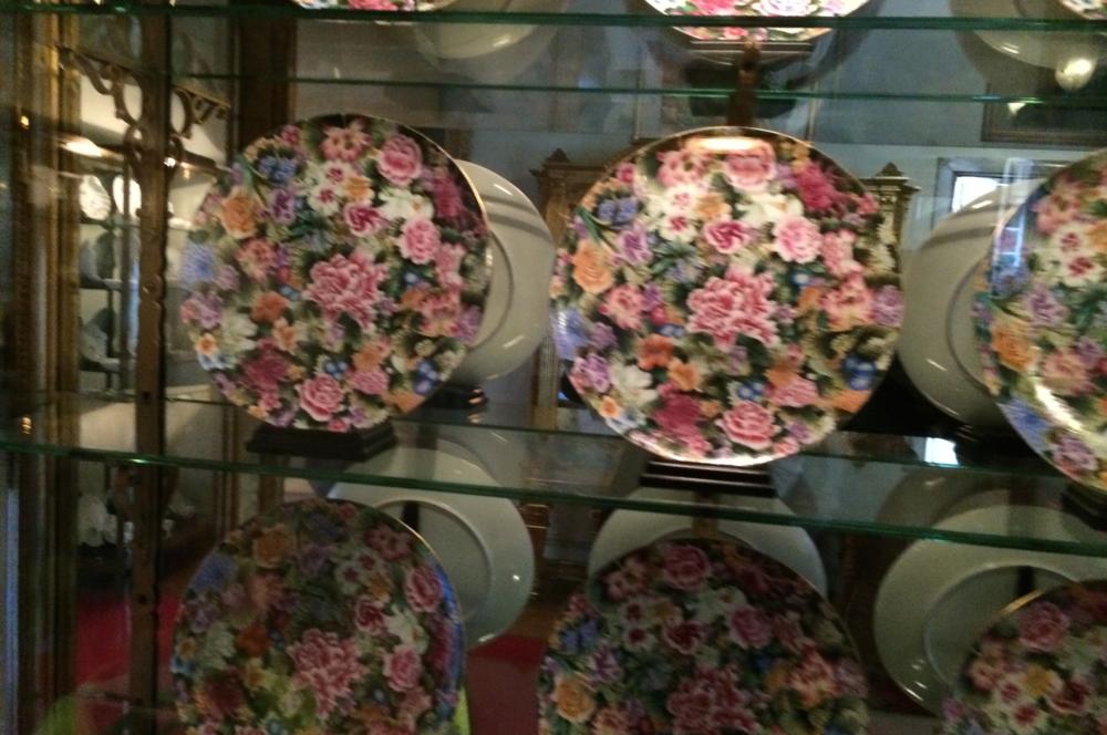 I Weiwei floral plates Blenheim Palace