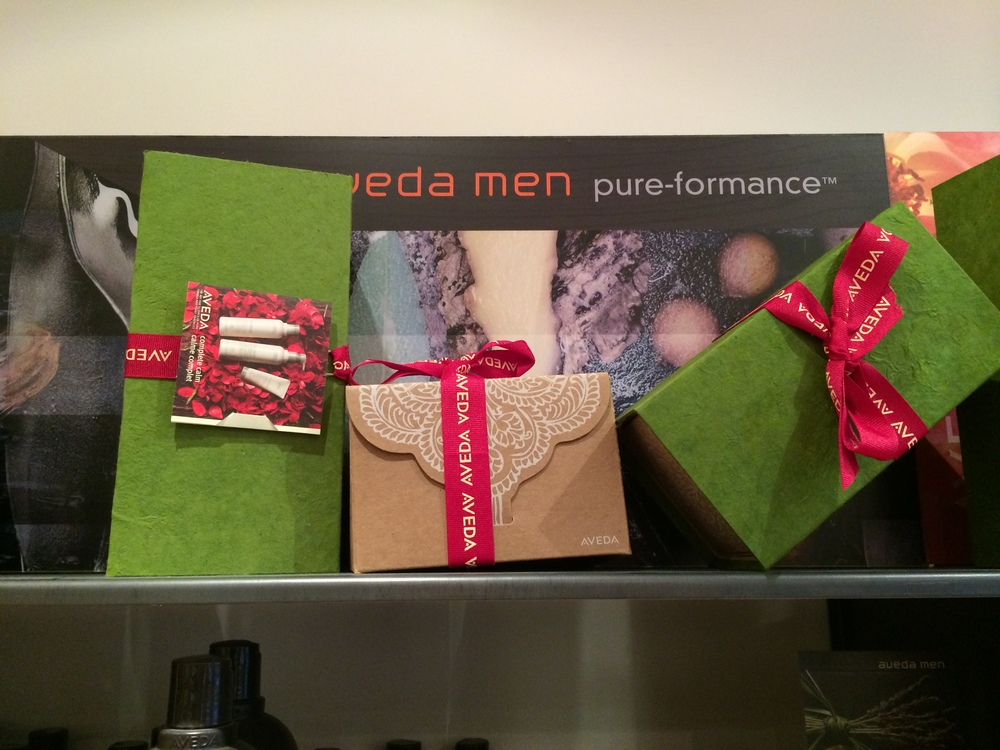 The Aveda gift packaging