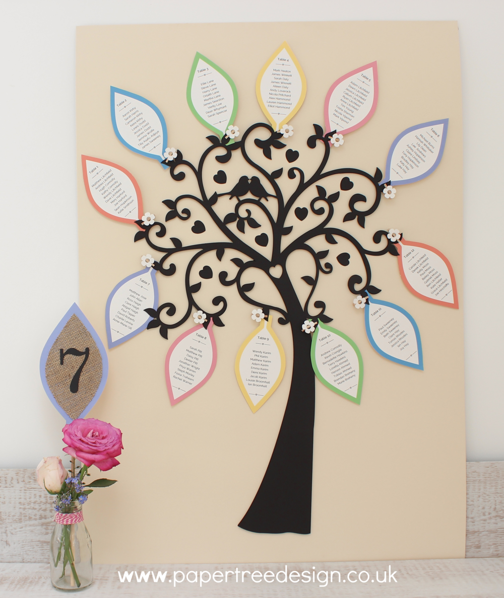 wedding tree table plan