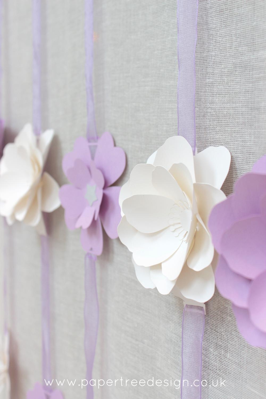 Lilac flower garland 3d