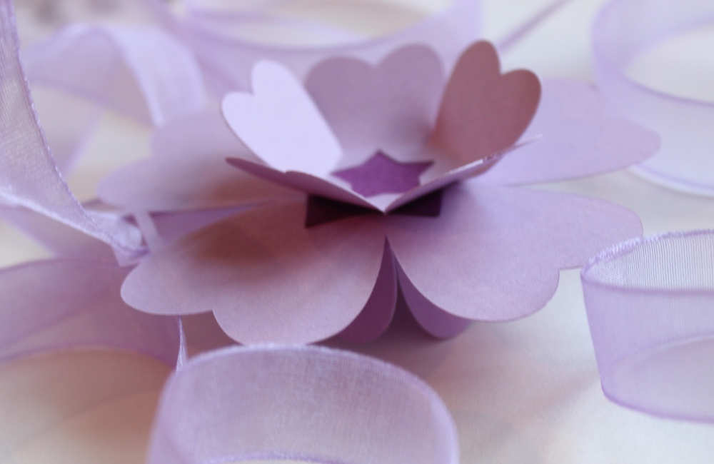 Lilac paper flower garland