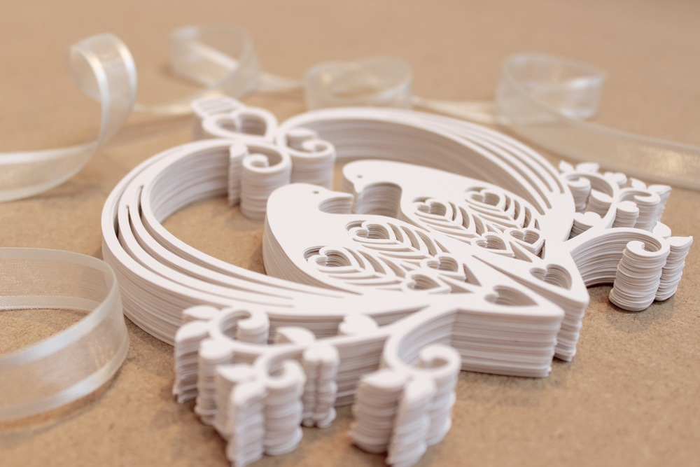 Lovely doves paper  wedding decoration