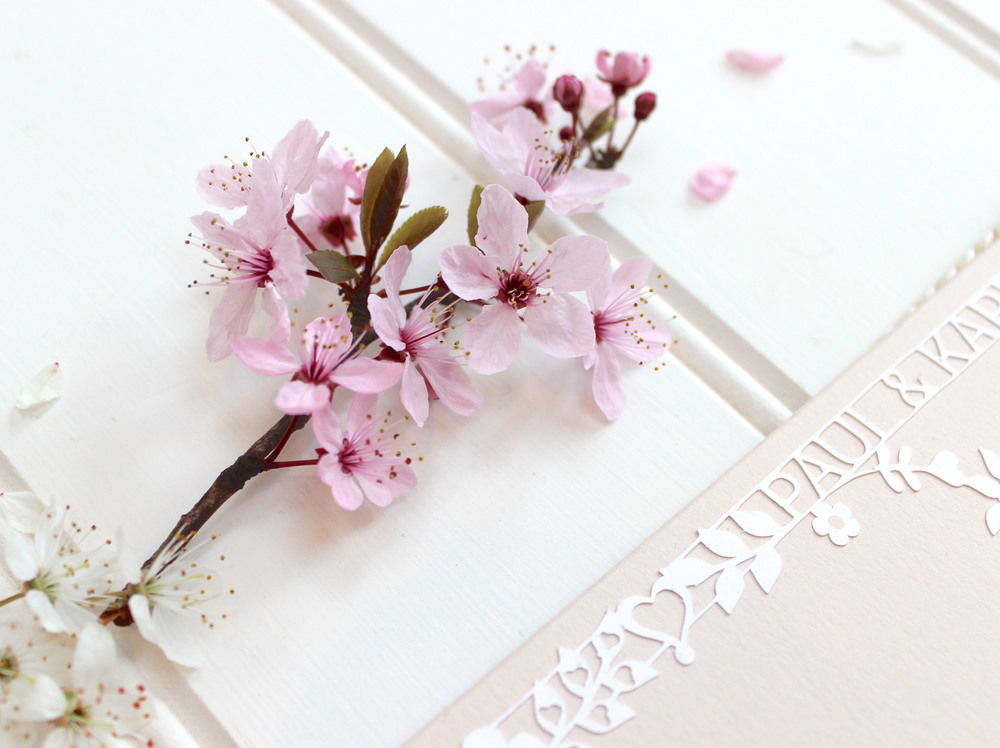 Cherry blossom laser cut