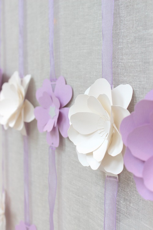 Lilac peony paper flower garlands