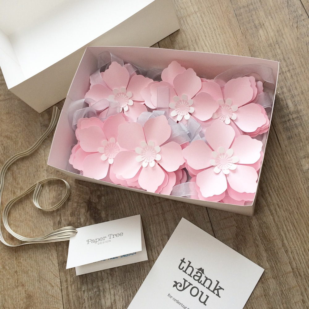 Wedding stationery gallery cherry blossom paper flower garland mightylinksfo