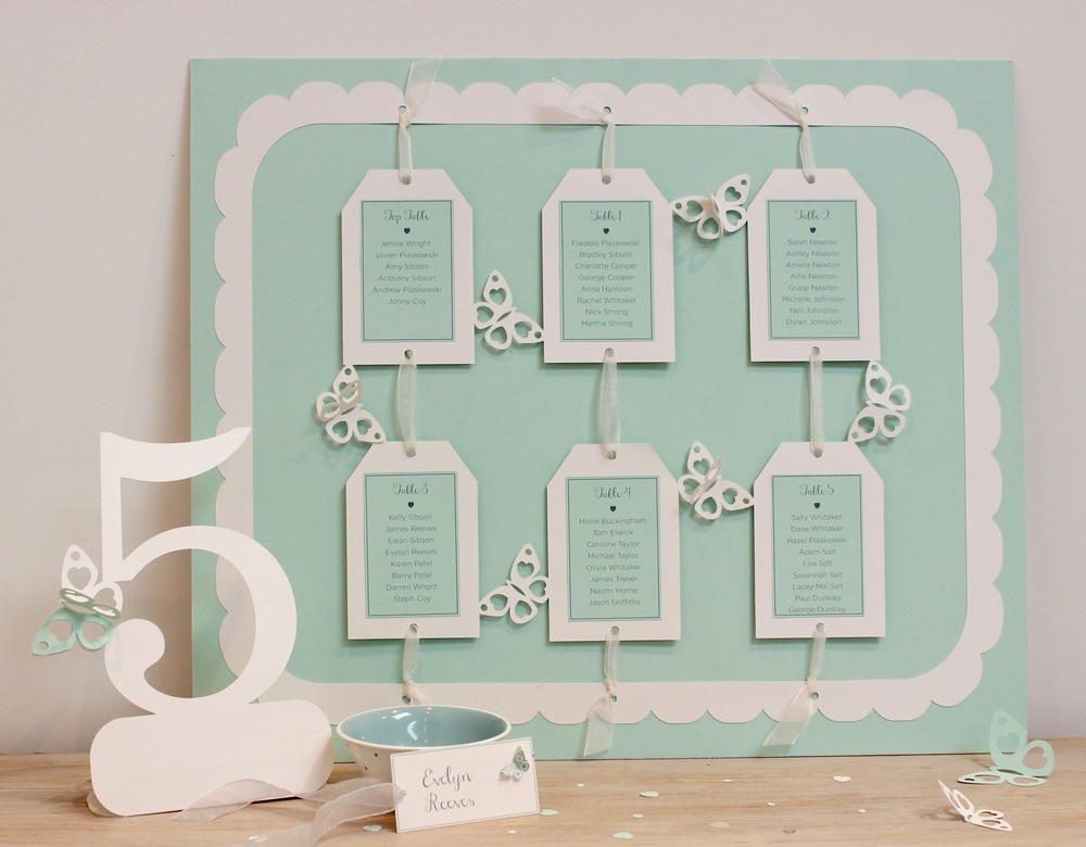 Mint butterfly table plan