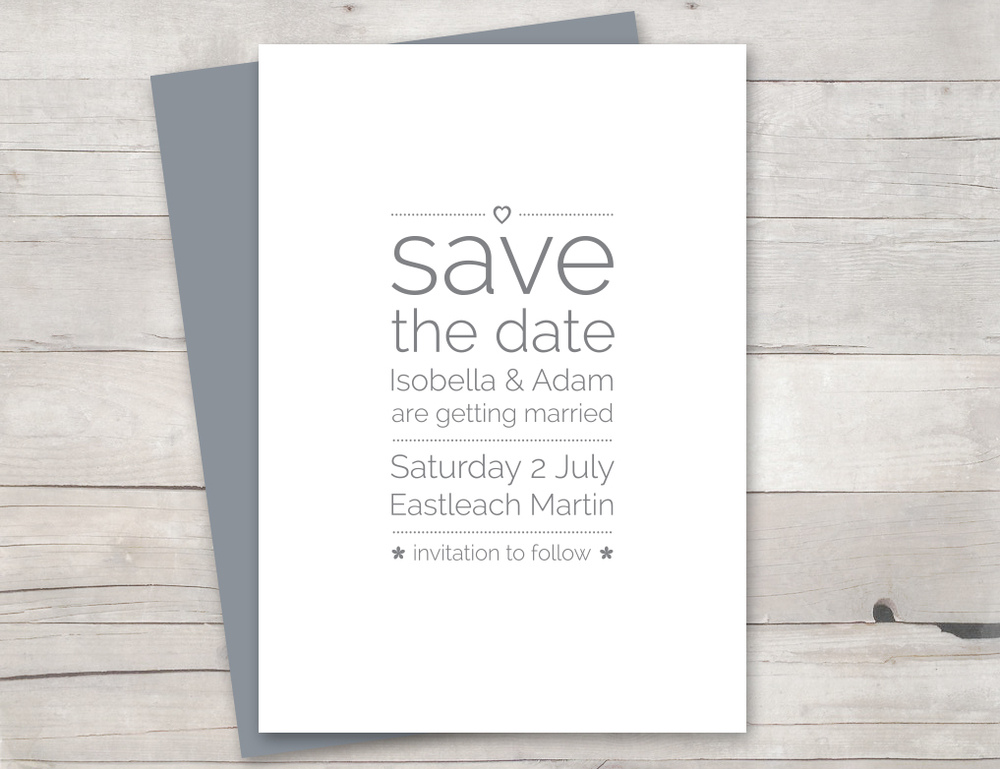 Lovely doves save the date