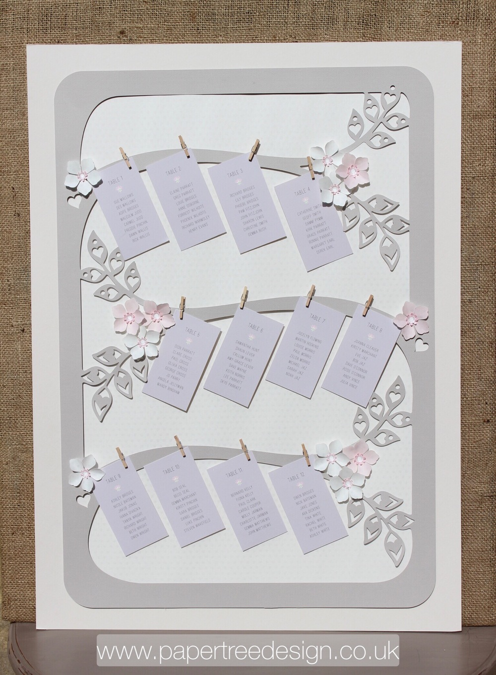 Cherry Blossom table plan