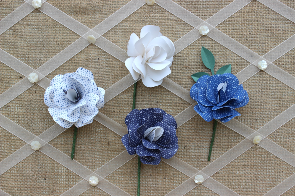 Paper flower buttonholes