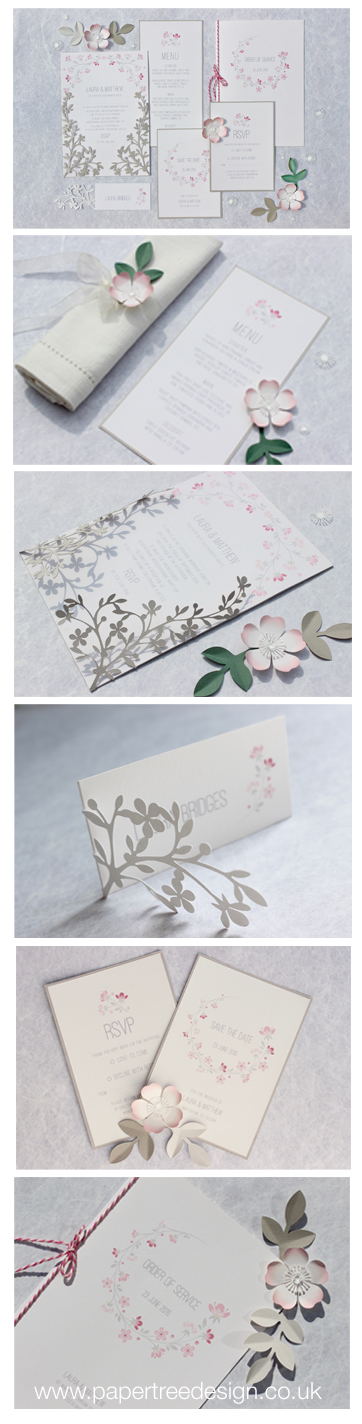 Cherry blossom stationery range