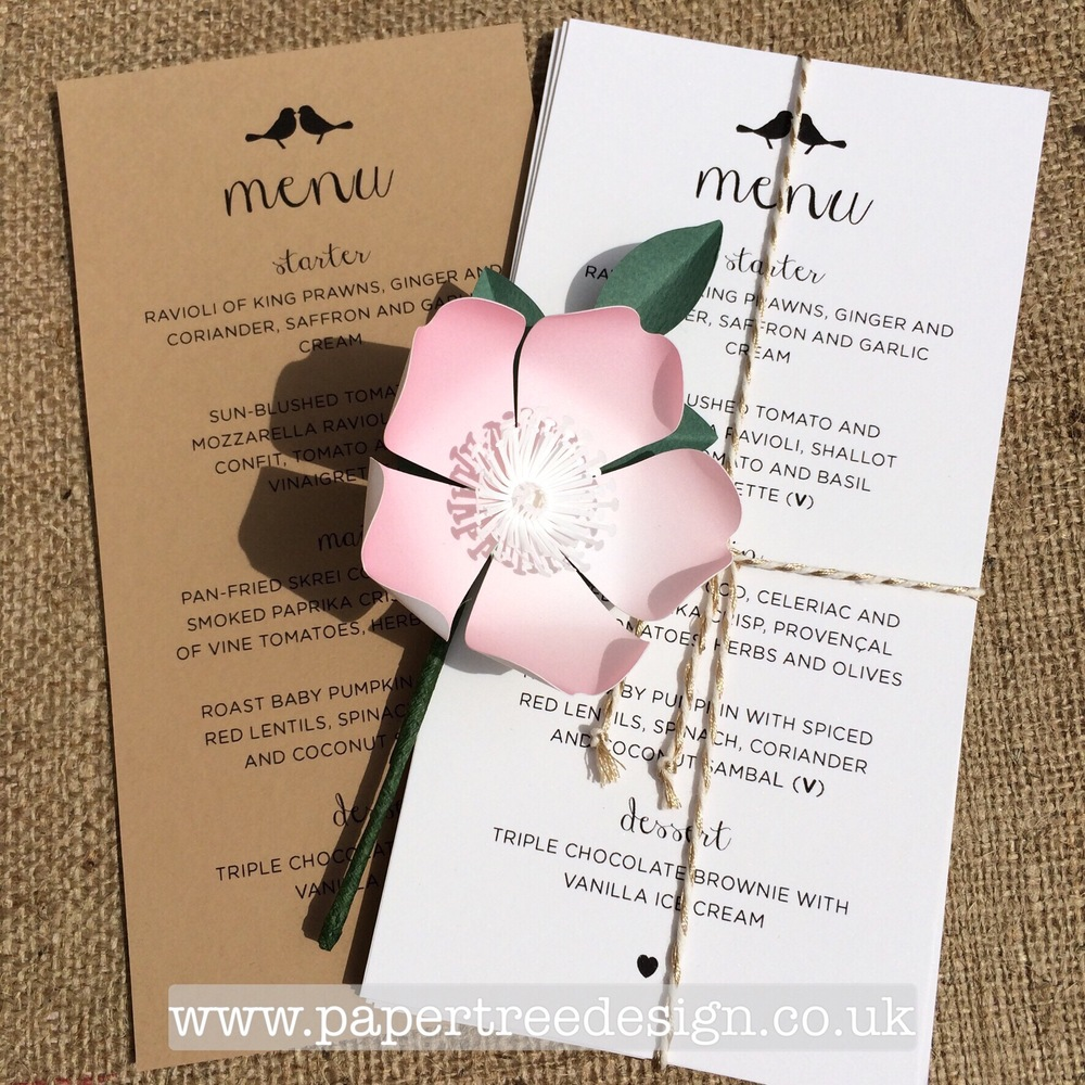 Paper Wild Rose buttonhole