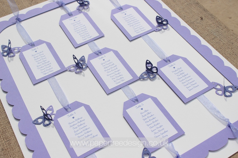 Lilac butterfly table plan