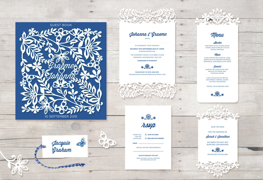 Indian Summer Wedding Invitation suite