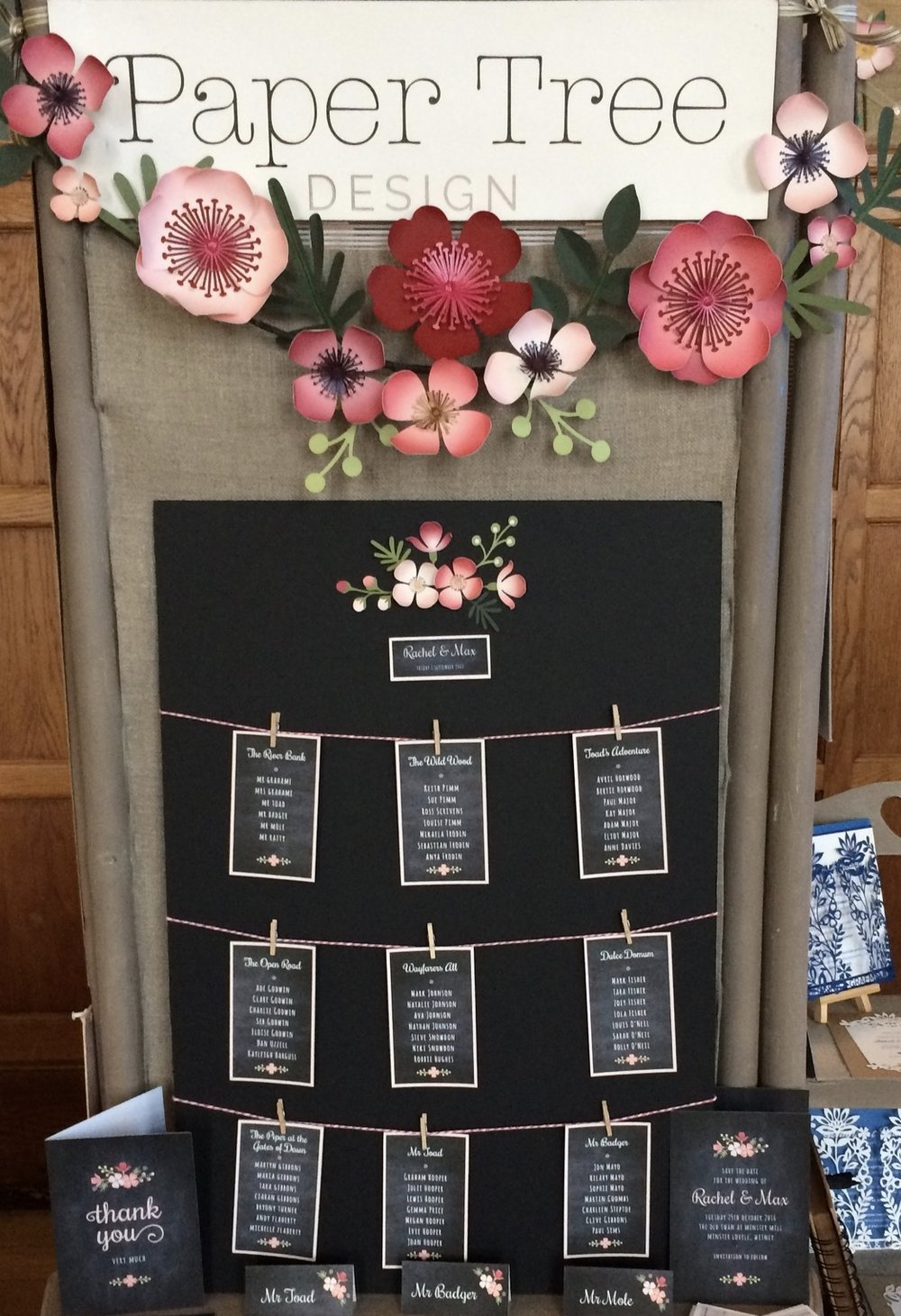 Chalkboard Floral on Bakers Twine