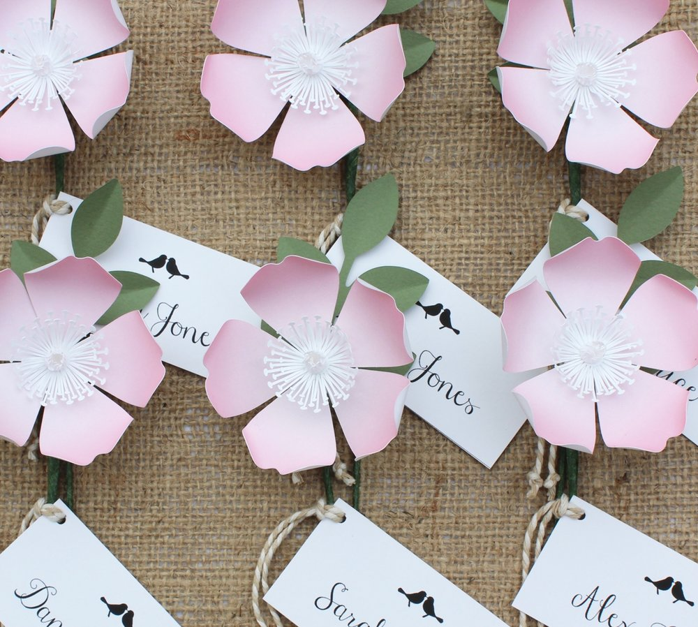 Flower name cards