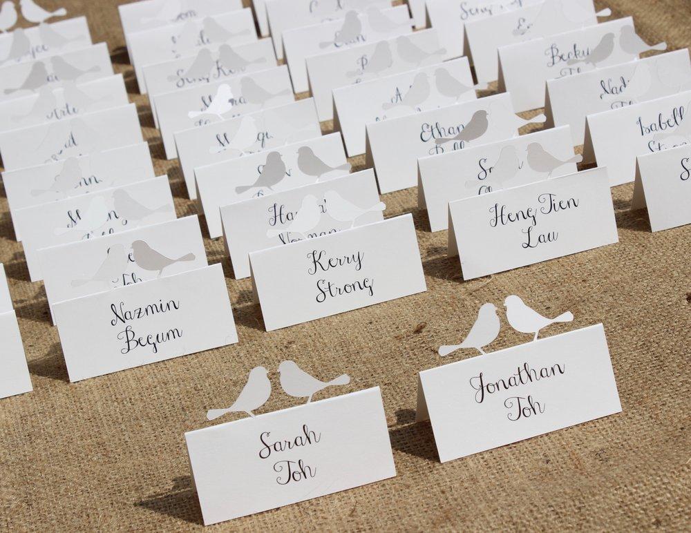Birds name cards