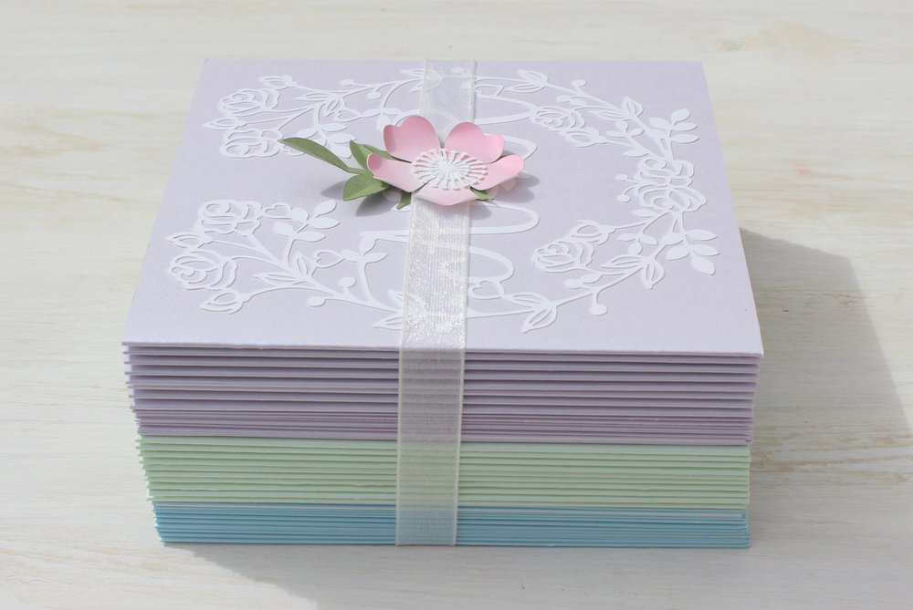 Vintage rose pastel wedding invitations