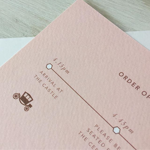 """""""Arrival at the Castle"""" Wow what bride wouldn't feel like a princess 👑💕 Detail from Jenny and Ben's information sheet.  #weddinginvitations  #weddinginvitationoxfordshire #oxfordshire #bespokeweddingstationery"""