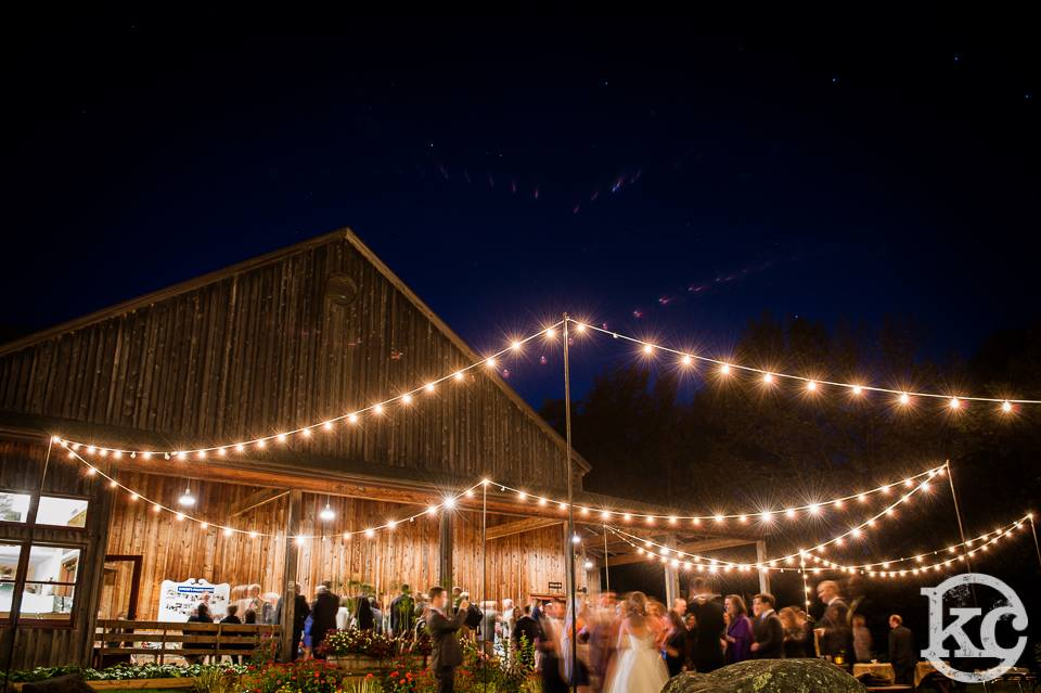 Bistro lighting at  Jacob's Pillow .  Photo by Kristin Chalmers Photography.