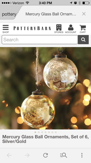 Diy mercury glass berkshire wedding collective see the ornaments in my screen shot on the left this is the effect im going to show you how to create yourselfr about 50 cents a piece solutioingenieria Choice Image