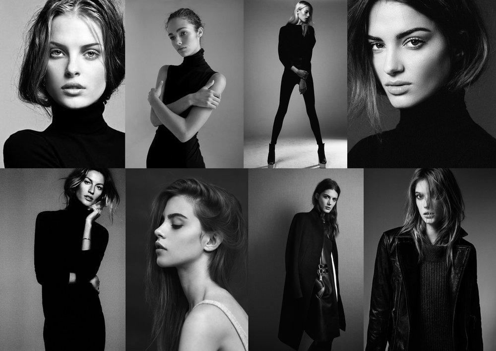 Black and White Fashion Mood Board