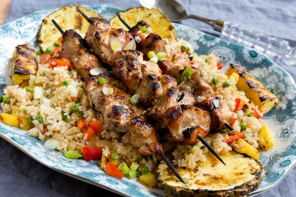 Fred Meyer Turkey Kabobs and Pineapple Fried Rice-7.jpg