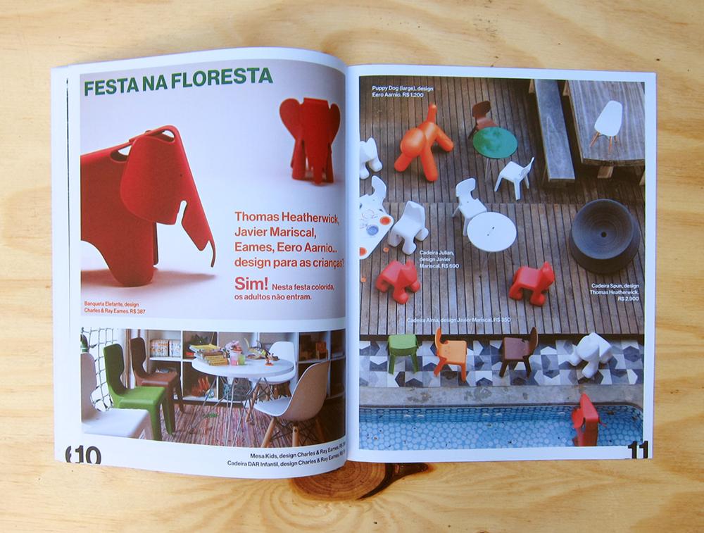 Das locações, photo shotting, direção de arte e design do catálogo e comunicação impressa para a Artesian Móveis