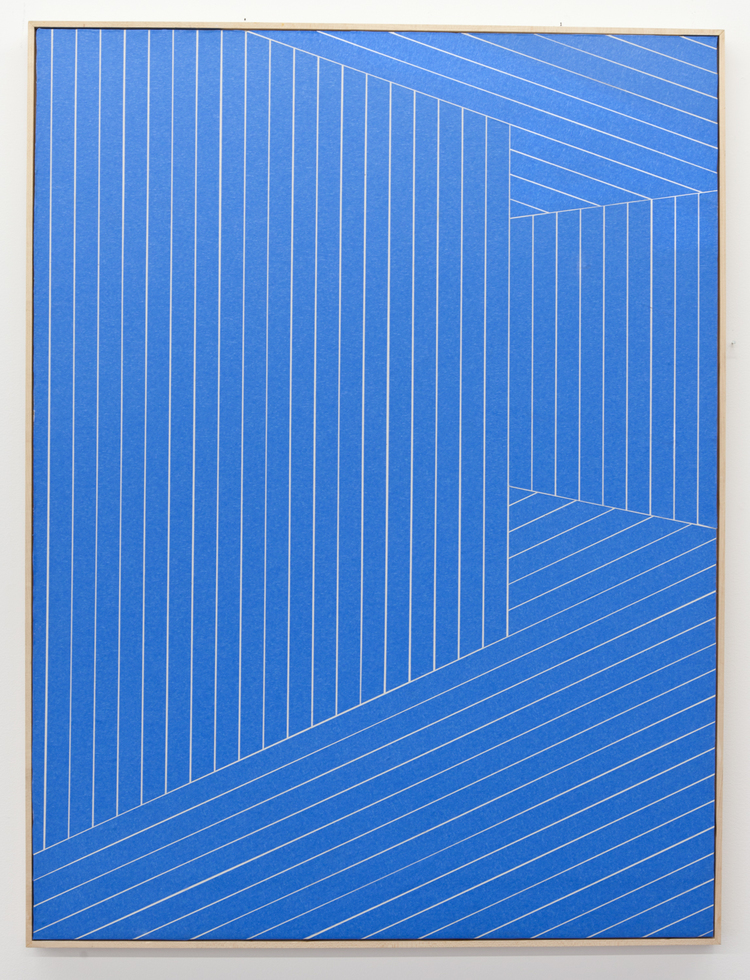 Isaac Best  Homies Around the Corner  2013  Painters tape, Sheetrock and wood  40 x 30 inches