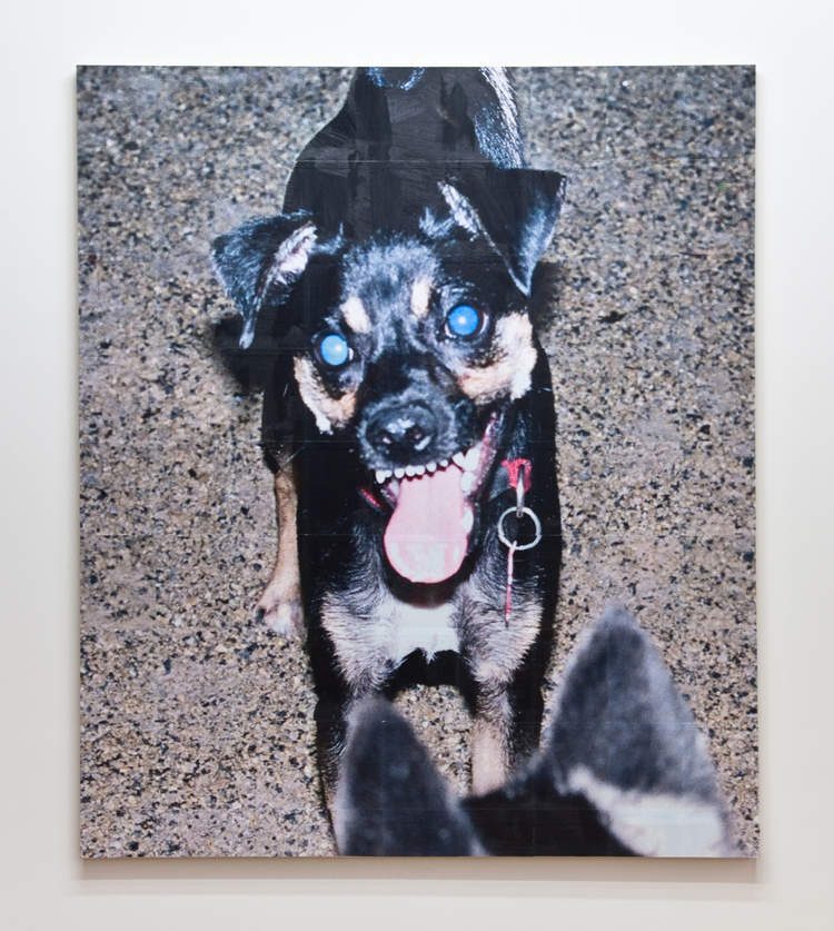 East Village: Tompkins Dog Run 2012 Tiled photograph on wood panel, gel medium 84 x 72 inches