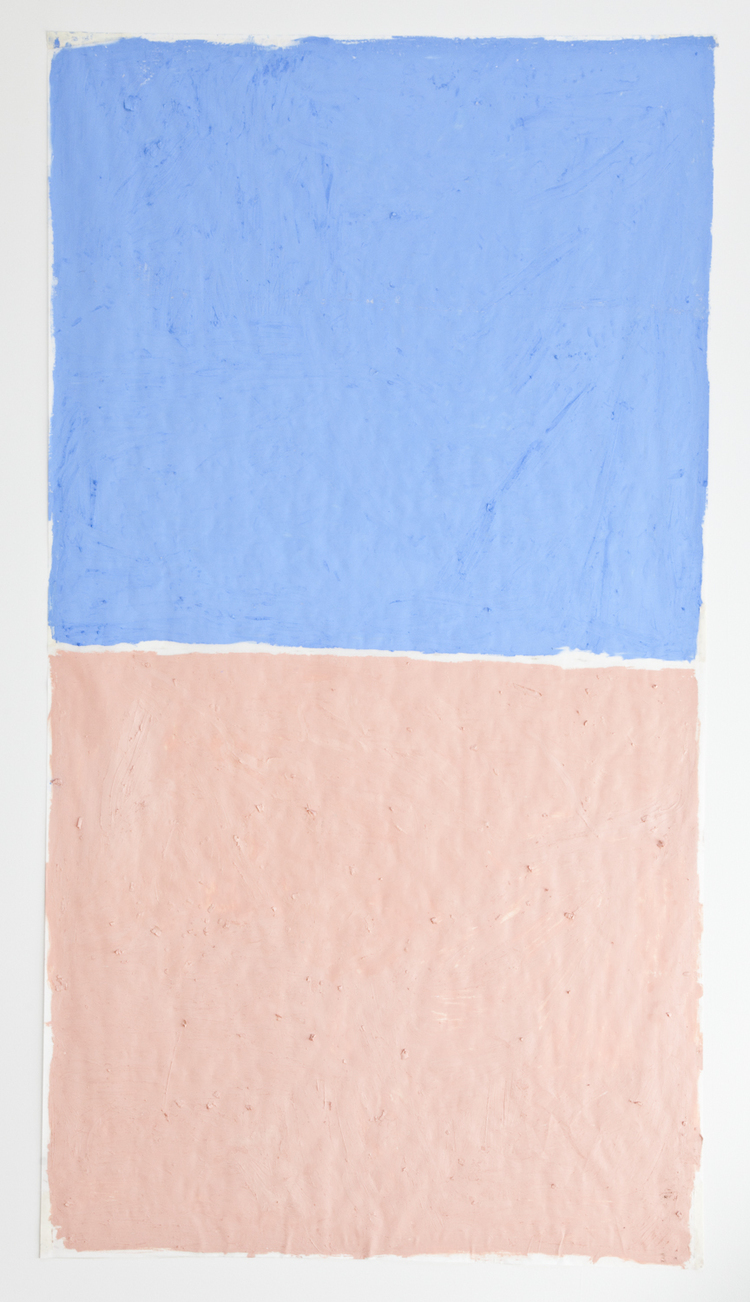 Sand Box 2012 Oil on paper 80 x 48 inches