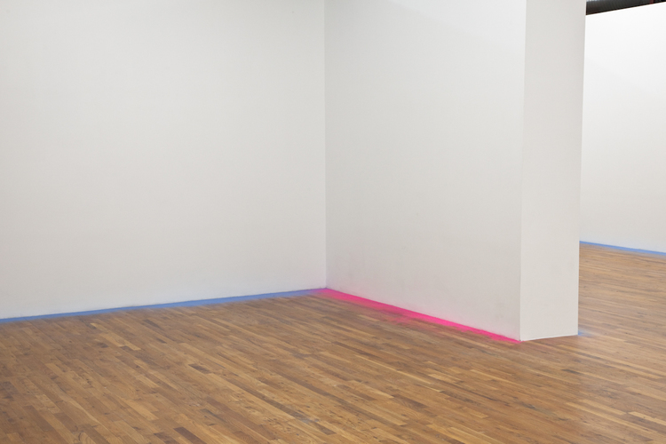 Untitled 2012 Sanded paint Dimensions variable