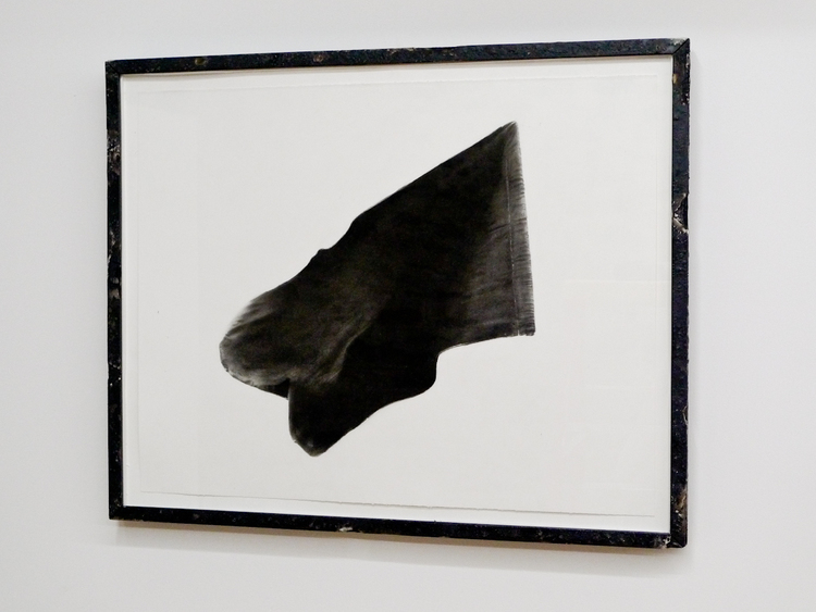 Paul Jocabsen Black Flag 2011 25 1/4 x 31 1/2 inches Charcoal on Paper in Artist Frame