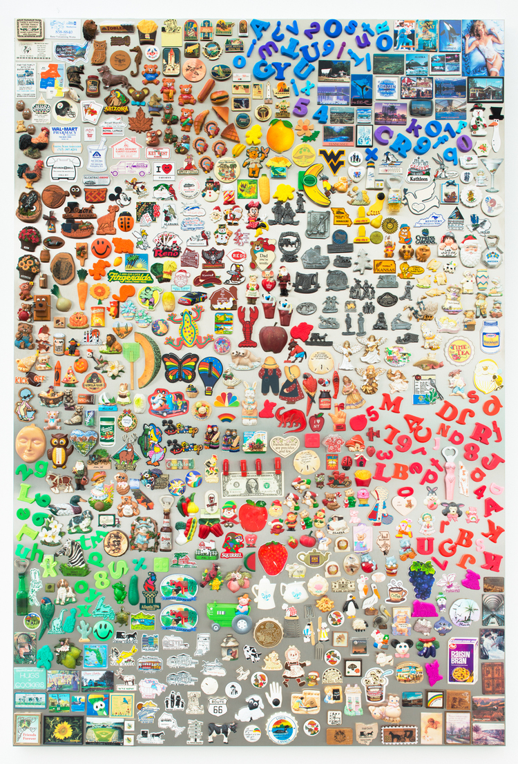 Nick Darmstaedter Rick Solomon 2013 Magnets on magnetic steel panel 72 x 48 inches