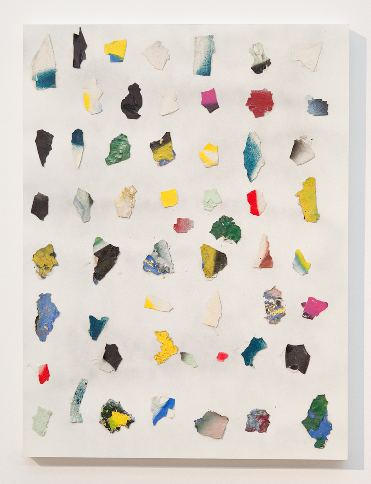 Prehistoric Confetti 2011 Found paint chips, enamel, glue on wood 16 x 20 inches