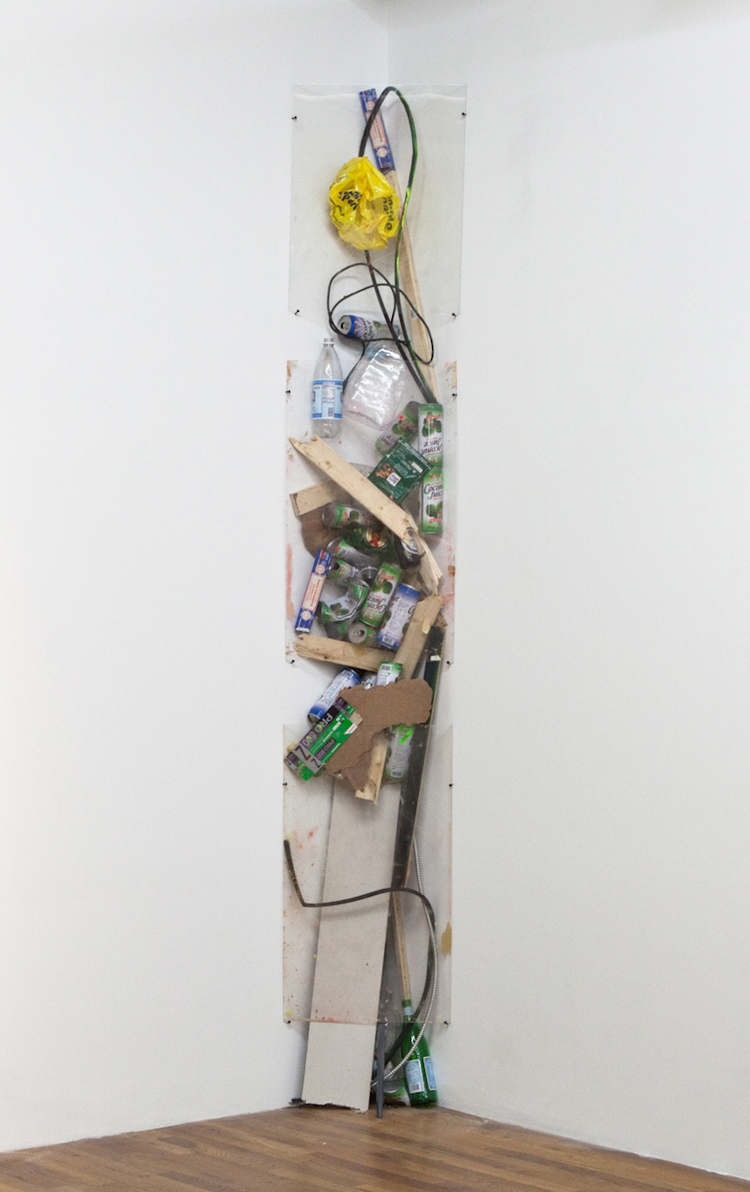 Even This Could Be Yours 2011 Plexiglass and studio debris 18 x 12 x 108 inches