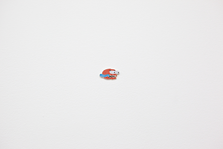 "Crazy Brain 2011 Artist's pin 1"" x 1/2"""