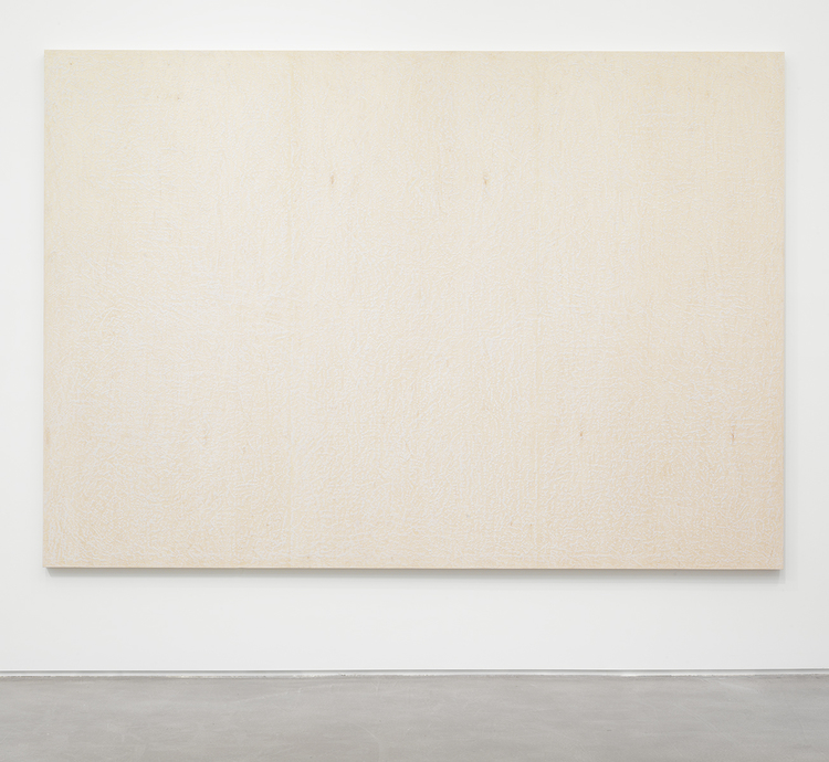 Brendan Lynch Da Bull 2013 Surf wax on wood panel 84 x 120 inches