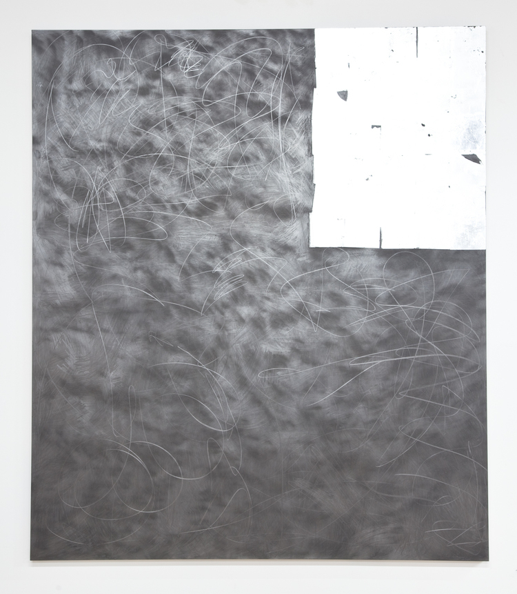 Brendan Lynch Magic Messenger 2012 Graphite and aluminum leaf on wood panel 84 x 72 inches