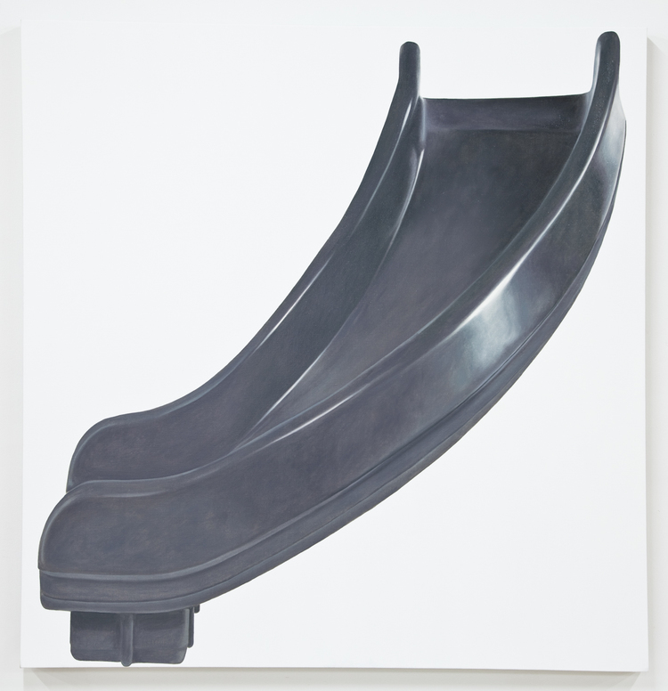 Louis Eisner Grey Right Turn 2012 Oil on linen 64 x 62 inches