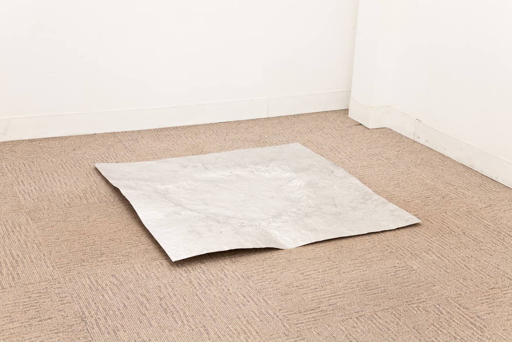 Peter Linden Pothole 2012 Aluminum, water 36 x 36 inches