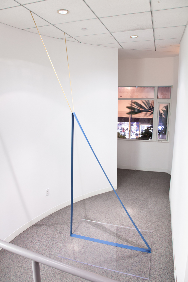 Zachary Susskind Puddle 2012 Latex, plastic, steel Dimensions variable