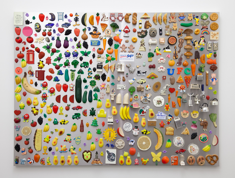 Nick Darmstaedter Soft and Contemporary 2012 Magnets on galvanized steel panel 48 x 36 inches