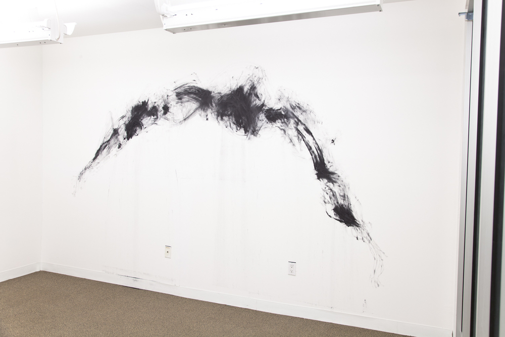 Brendan Lynch  Caesar's Moustache  2012 Graphite on wall Dimensions variable