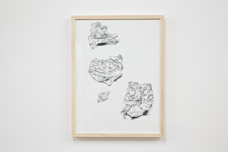 Jack Greer Little Sculpture 2012 Pencil on paper 24 x 20 inches