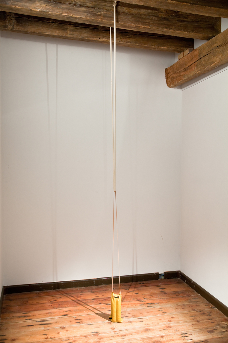 Zachary Susskind German Tourist 2012 Rubber, leather, sand Dimensions variable