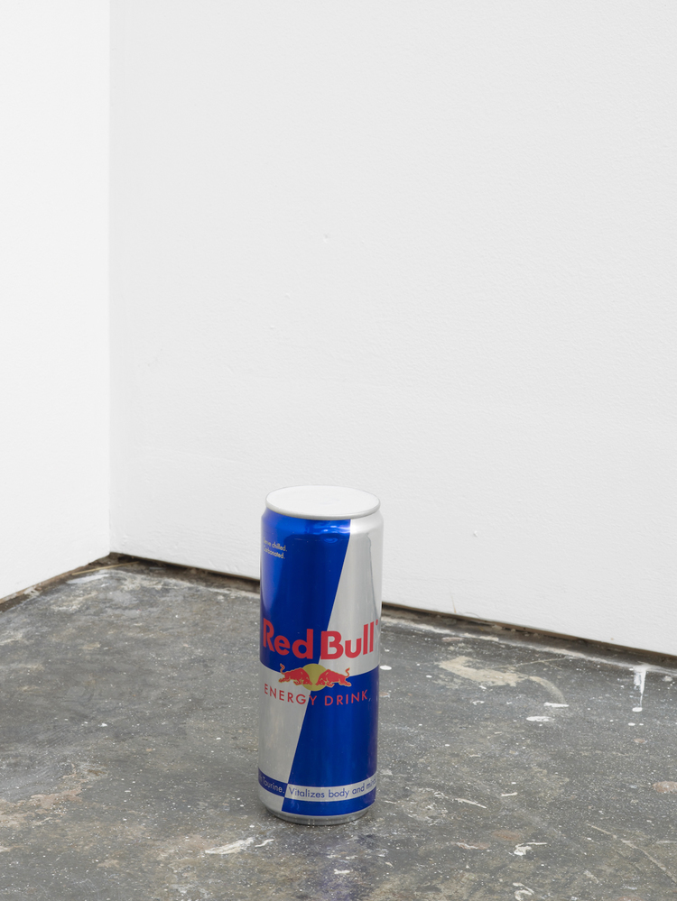 RedBull Without a Cause (detail) 2012 RedBull can and plaster Dimensions variable