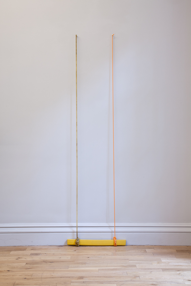 Zachary Susskind Small Chances 2012 Latex, rubber, plated screws 84 x 24 x 4 inches