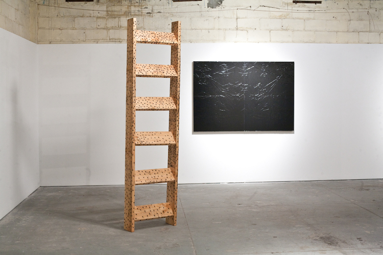 Grayson Revoir Spike Van Cleeve II 2011 Wood and screws 24 x 7.5 x 96 inches