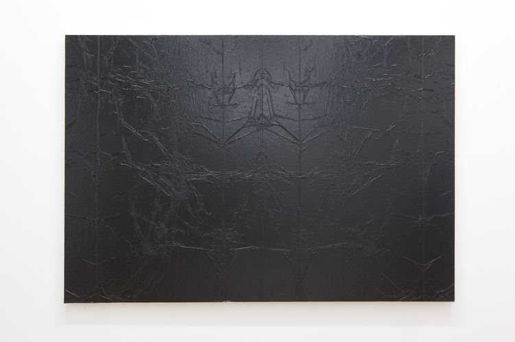 Andrew Sutherland Untitled (Garbage Bag) 2011 Acrylic on canvas 70 x 48 inches